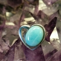 The large heart shaped Larimar ring.