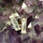 Smokey Quartz two bar ring