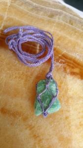 Natural and handmade Amazonite pendant