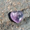 Amethyst crystal heart at Heart of the Bay - Byron Bay