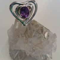 Amethyst Heart ring from Heart of the Bay -Byron Bay