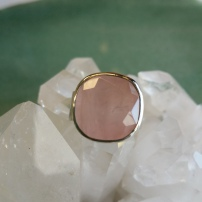 Rose Quartz Ring - Heart of the Bay Byron Bay