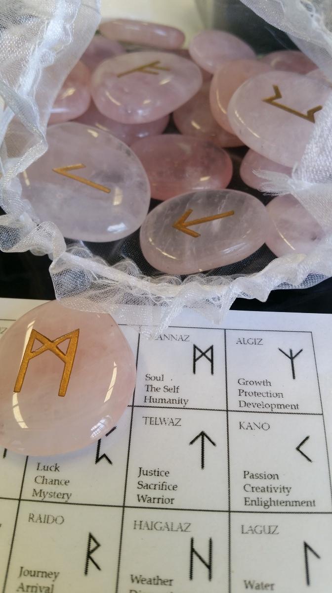 Rose Quarts Runes Heart of the Bay Byron Bay