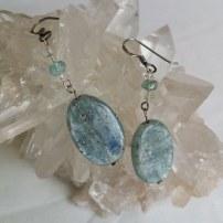 Blue Kyanite earrings _Heart of the Bay - Byron Bay