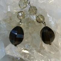Smokey Quartz Earrings - Heart of the Bay Crystals Byron Bay