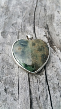 Crystal Heart Pendant, Heart of the Bay Crystals, Byron Bay