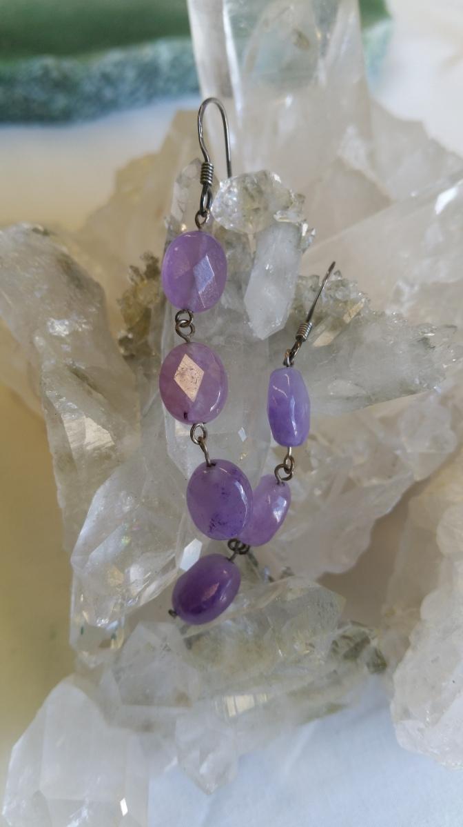 Fluorite earrings - Heart of the Bay Crystals Byron Bay