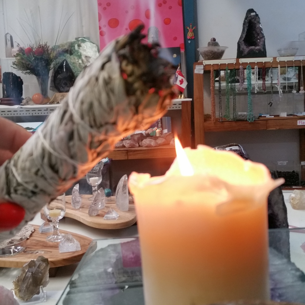 Sage smudge stick Heart of the Bay Crystals Byron Bay