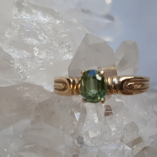 Green Sapphire ring Heart of the Bay Crystals Byron Bay