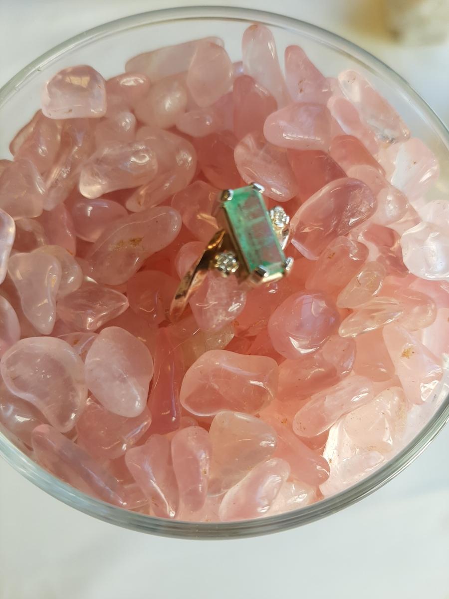 Emerald Ring Heart of the Bay Crystals Byron Bay