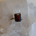 Garnet Ring Heart of the Bay Crystals Byron Bay