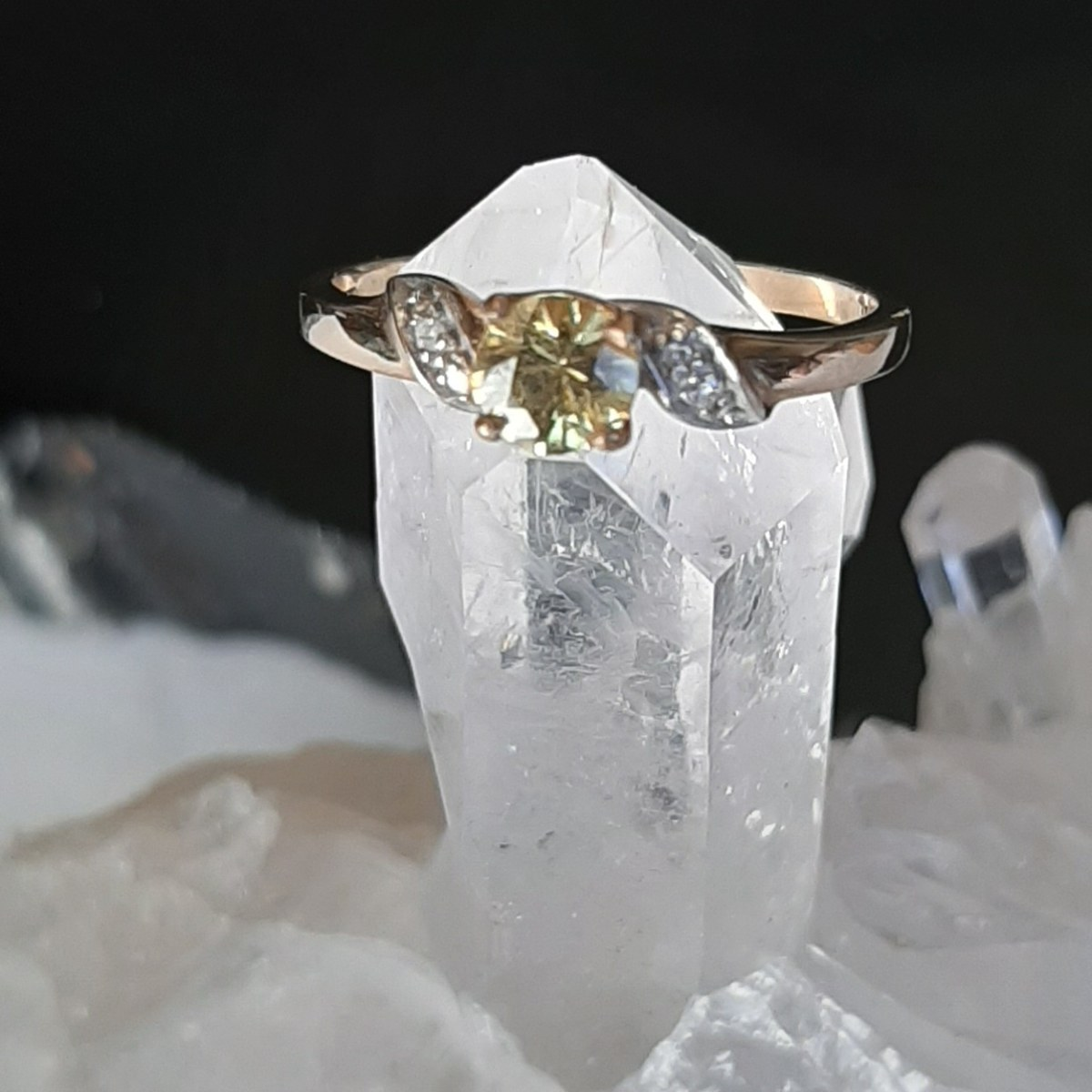 Yellow Sapphire ring Heart of the Bay Crystals Byron Bay