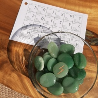 Green Adventurine Runes Heart of the Bay Byron Bay Crystals