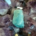 Aquamarine and amethyst - Heart of the Bay - Byron Bay Crystals