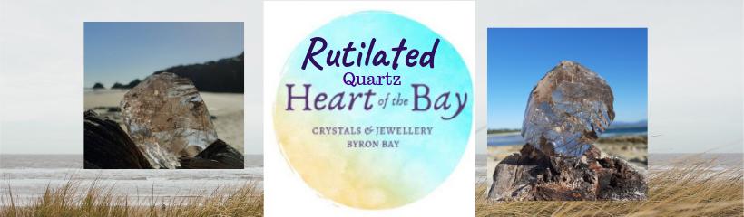 Rutilated Quartz - Heart of the Bay - Crystals Byron Bay