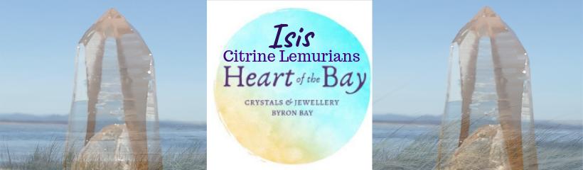 Isis Citrine Lemurian Crystal - Heart of the bay - Byron Bay