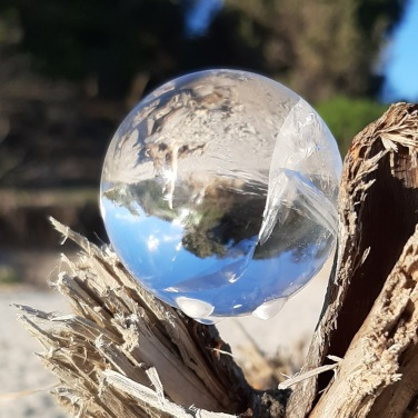 Clear Quartz Sphere used by ancients to navigate life -A Discovery of Witches written by Deborah Harkness Book Review - Heart of the Bay - Byron Bay Crystals