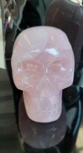 Rose Quartz Crystal Skull - Heart of the Bay - Byron Bay Crystals