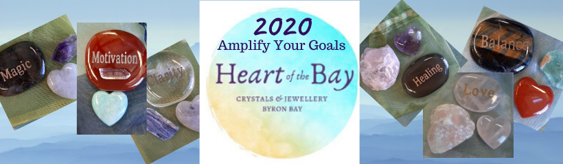Amplify your goals - Align your intentions 2020 with Crystal Power Pouches - Heart of the Bay - Byron Bay Crystals