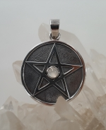 Moonstone pentacle pendant - Heart of the Bay Byron Bay Crystals