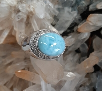 larimar ring - Heart of the Bay - Byron Bay Crystals