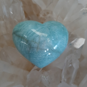 Amazonite Heart Heart of the Bay Byron Bay Crystals