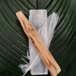 Feather Selenite San Palo Selenite incense Smudge Sticks Crystals High Vibes - Heart of the Bay Byron Bay Crystals