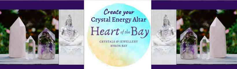Create a meditation crystal altar - byron bay crystals - heart of the bay