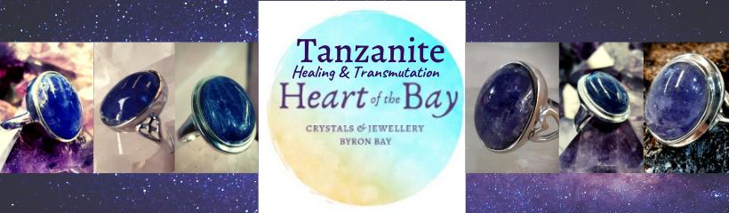 Tanzanite Rings Byron Bay Crystals Heart of the Bay Healing Transformation